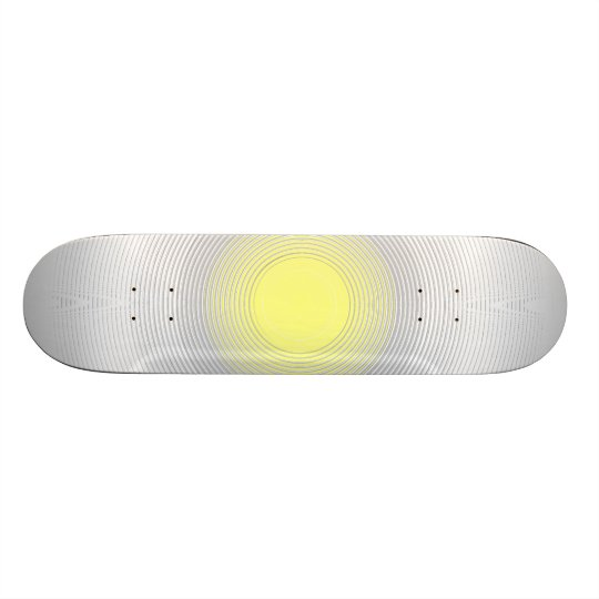 Digital Minimalist Sunshine Skate Board Deck