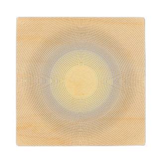 Digital Minimalist Sunshine Wood Coaster