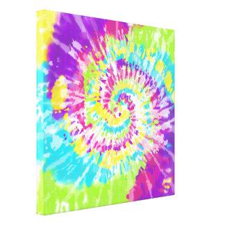 Digital Neon Tie Dye Canvas Print