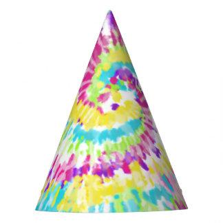 Digital Neon Tie Dye Party Hat