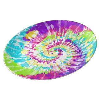 Digital Neon Tie Dye Plate