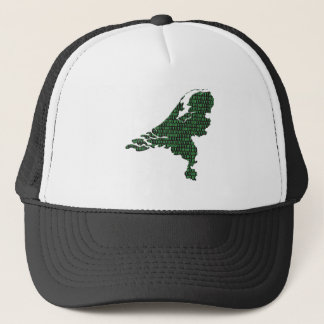 Digital Netherlands - binary code on map of The Ne Trucker Hat