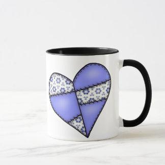 Digital Padded Patchwork - Heart-09 Mug