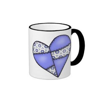Digital Padded Patchwork - Heart-09 Ringer Mug