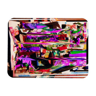 Digital Painting Collage #2 Rectangular Photo Magnet