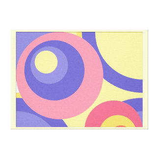Digital pastel painting circles canvas print