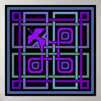 Digital Peacock Print