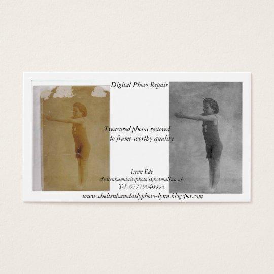 Digital Photo Repair business card