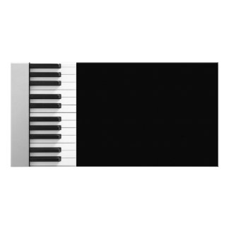Digital piano keyboard custom photo card