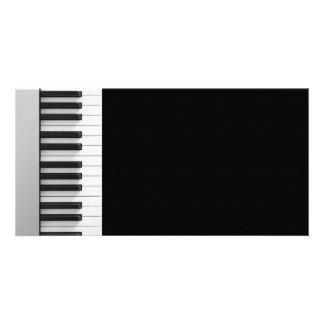 Digital piano keyboard personalised photo card