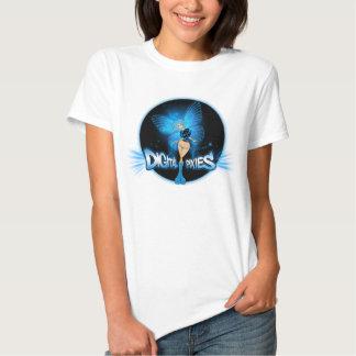 Digital Pixies Blue Pixie - Ladies Baby Doll (Fitt T Shirts