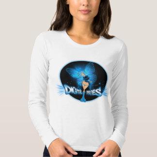 Digital Pixies Blue Pixie - Ladies Long Sleeve (Fi T-shirts