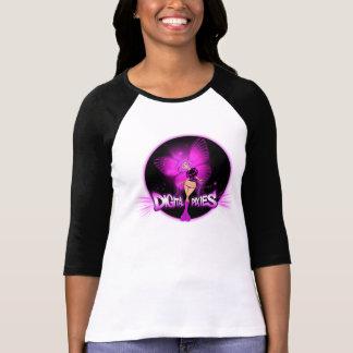 Digital Pixies Pink Pixie - Ladies 3/4 Sleeve Ragl Shirt