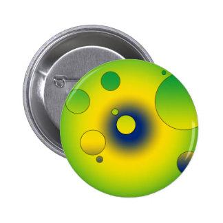 Digital Pop Art Flag Colors of Brazil Buttons
