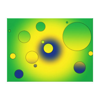 Digital Pop Art Flag Colors of Brazil Stretched Canvas Prints