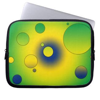 Digital Pop Art Flag Colors of Brazil Laptop Computer Sleeves