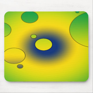 Digital Pop Art Flag Colors of Brazil Mousepad