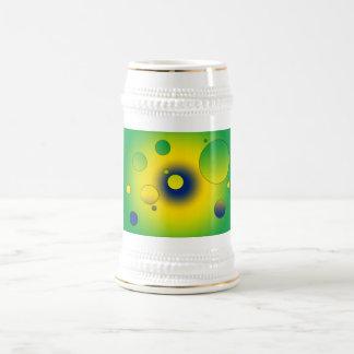 Digital Pop Art: Flag Colors of Brazil Mugs