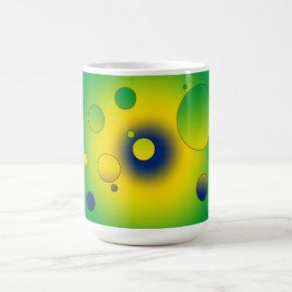 Digital Pop Art: Flag Colors of Brazil Mug