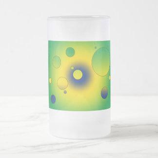 Digital Pop Art: Flag Colors of Brazil Coffee Mugs