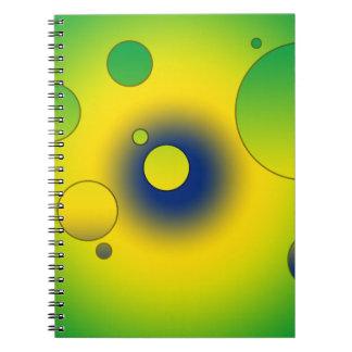 Digital Pop Art Flag Colors of Brazil Spiral Note Books