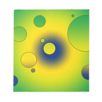 Digital Pop Art Flag Colors of Brazil Memo Notepads