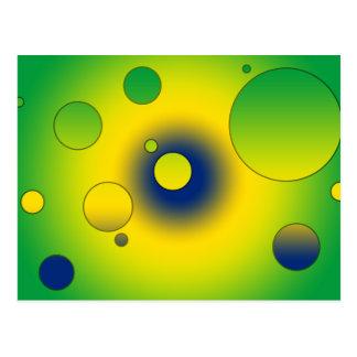 Digital Pop Art Flag Colors of Brazil Postcard