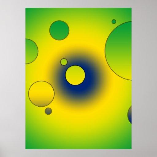 Digital Pop Art: Flag Colors of Brazil Posters