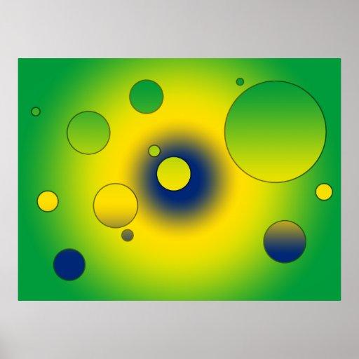 Digital Pop Art: Flag Colors of Brazil Poster