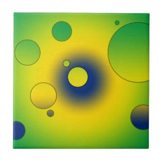 Digital Pop Art Flag Colors of Brazil Ceramic Tiles