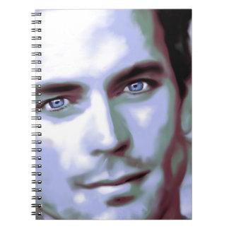 digital portrait man bomer notebook
