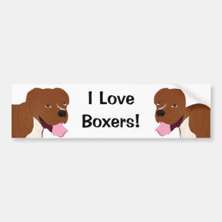 Digital Portrait of a Boxer Dog Smiling Bumper Sticker