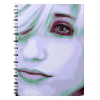 digital portrait woman notebooks