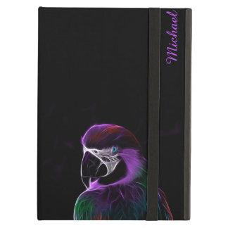 Digital purple parrot fractal iPad air covers