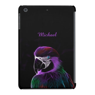 Digital purple parrot fractal iPad mini cover