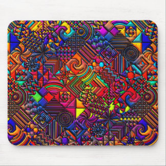 digital quilt modern retro mouse mat