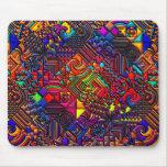 digital quilt modern retro mousepads