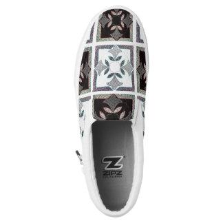 Digital Quilt Tennis Zipz Slip On Shoes