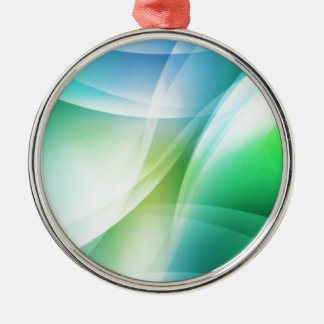 Digital Radial Colours Blur Glow Art Beautiful Des Silver-Colored Round Decoration