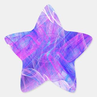 Digital Radial Colours Blur Glow Art Beautiful Des Star Sticker