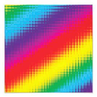 Digital Rainbow Lines Art Photo