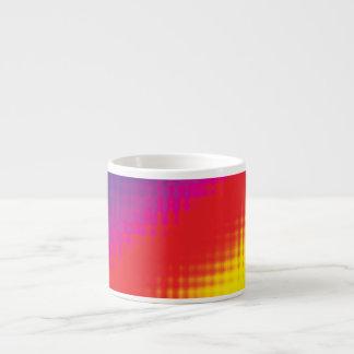 Digital Rainbow Lines Espresso Cups