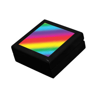 Digital Rainbow Lines Gift Box