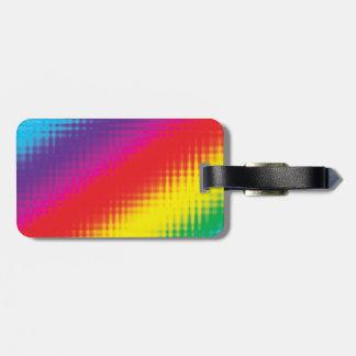 Digital Rainbow Lines Luggage Tag