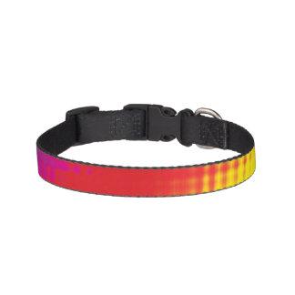 Digital Rainbow Lines Pet Collar