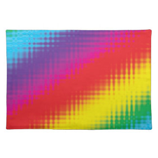 Digital Rainbow Lines Placemat