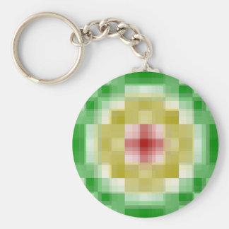 Digital Rasta Rings Basic Round Button Key Ring