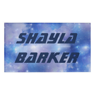 Digital Realism - BLUE UNIVERSE + your Name Name Tag