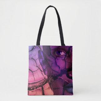 Digital Realism Composing: Desert Face Tote Bag