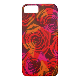 Digital red roses iPhone 7 case